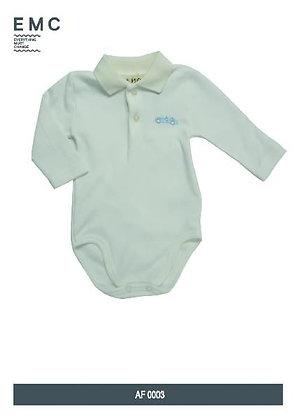 Baby Boy Milk White Body Polo Shirt