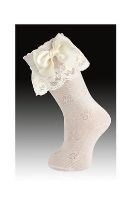Carlomagno Socks with Lace and Bow