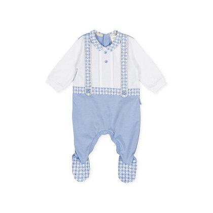 Gingham Blue Babygrow Baby Boy