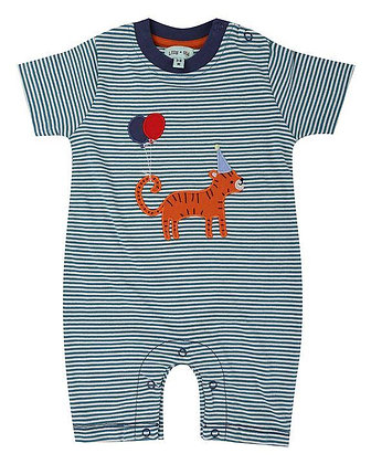 Baby Boys organic romper tiger stripe