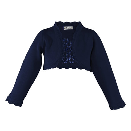 Miranda Girls Blue Knitted Bolero