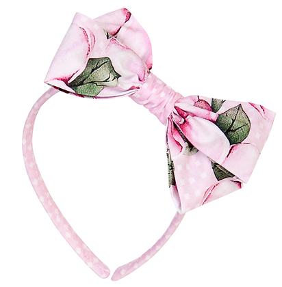 Balloon Chic Pink Flower Printed Hair Band