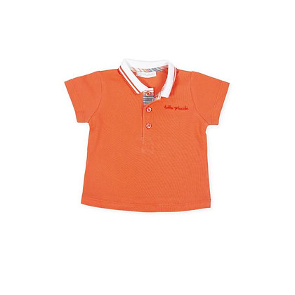 Poloshirt Coral Orange Boys Set