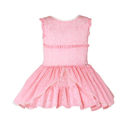Miranda Girls Pink Coral Dress