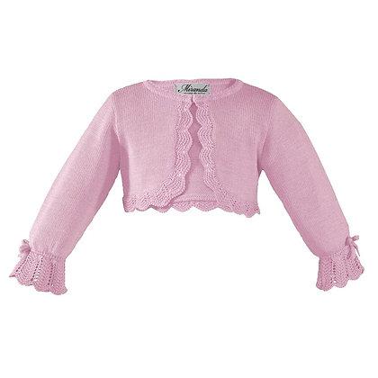 bolero cardigan shrug short pink girls knitwear