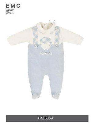 EMC Baby Boy White and Light Blue with Hedgehog Babygrow