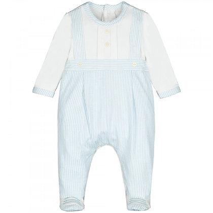Baby Boys Babygrow Blue Striped