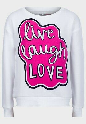 Minoti Girls LLL Sweatshirt White