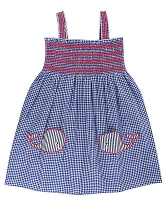 Lilly and Sid Reversible Whale Pocket Dress Organic Cotton