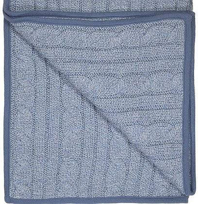 Blue Knitted Marl Blanket Denim Baby Boy