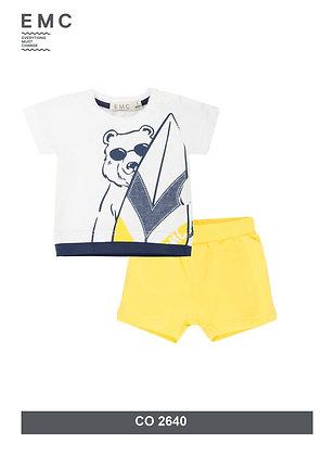 Baby Boys Summer Set T-Shirt Shorts Yellow Bear