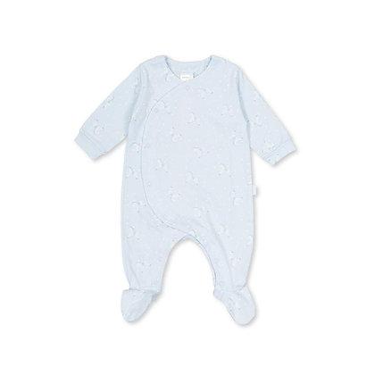 Baby boys carousel horse babygrow blue