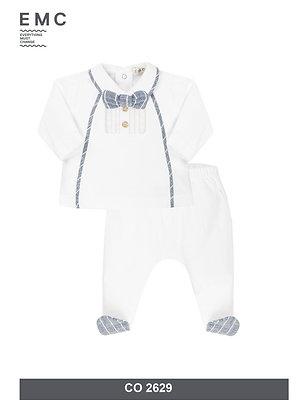 Baby Boys White Set Bowtie