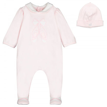 EMILE ET ROSE Pink Baby grow with Hat Included