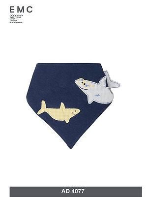 EMC Boys Bib Fish Shark Blue