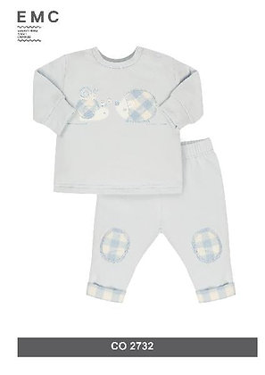EMC Baby Boys' Light Blue Tracksuit with Snail and Hedgehog
