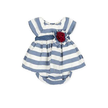 Striped Blue White Dress Flower Red Briefs
