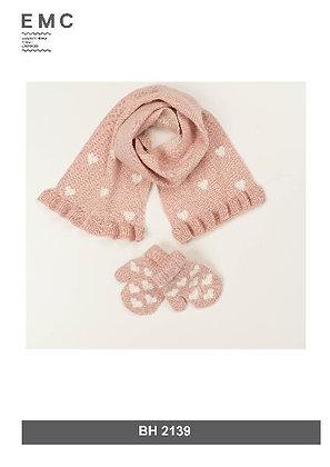 EMC Girls' Scarf and Gloves Set