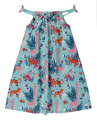 Lilly and Sid Strappy Dress Safari Print