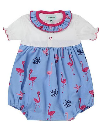 Lilly and Sid Flamingo Romper Organic Cotton Girl