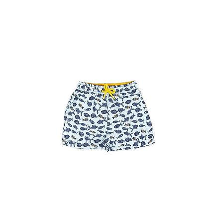 Boys Swimwear Boxers Shorts Fish Yellow