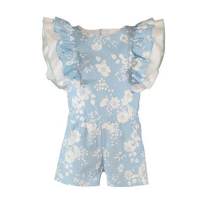 Miranda Girls Blue Floral Play suit