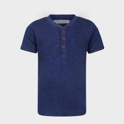 Minoti Baby Boys T-Shirt Navy Blue Henley