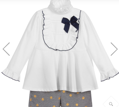 Miranda Girls' Blouse and Shorts Set