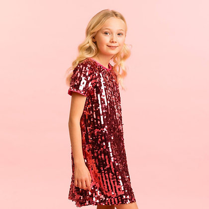 Holly Hastie Girls Party Dress Coco Pink Sequin