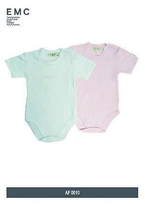 EMC White and Pink Short Sleeve Vests 2pk