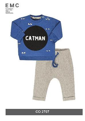 EMC Baby Boys' 'Catman' Blue/Grey Tracksuit