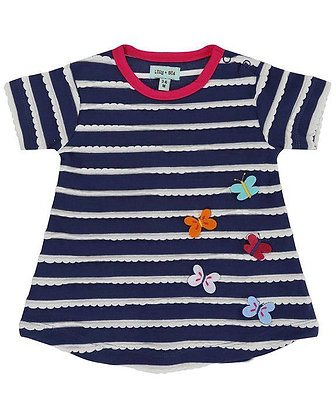 Lilly and Sid Wave Butterfly Dress Organic Cotton
