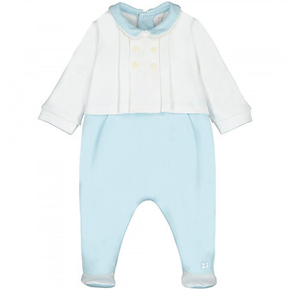 Baby Boys Blue Babygrow