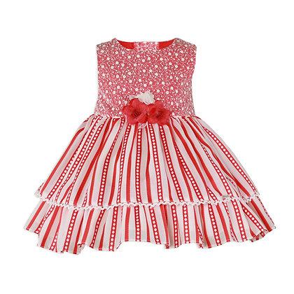 Miranda SS20 Girls Red Stripe Dress