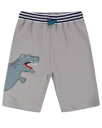 Boys Shorts Grey Dino Organic