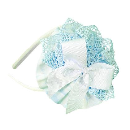MIRANDA HEADBAND-CLIP Light Blue and White