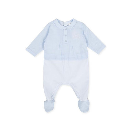 Gingham Blue Checked Babygrow Baby Boy