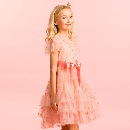Holly Hastie Girls Party Dress Cinderella Pink Star Tulle