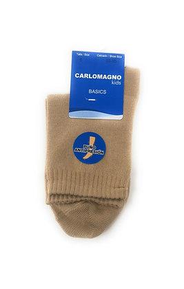 Carlomagno Unisex Camel Cotton Plain Socks