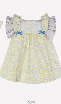 Miranda Blue & Lemon Baby Girls Dress