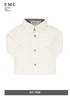 EMC White Cotton Shirt