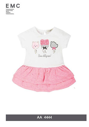 EMC White and Pink Dress with Precious Print