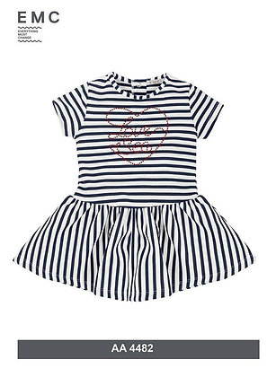 EMC Navy/White Stripe Dress