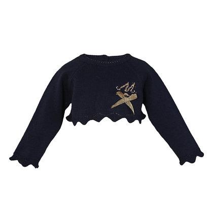 Miranda Girls' Crop Wool Jumper