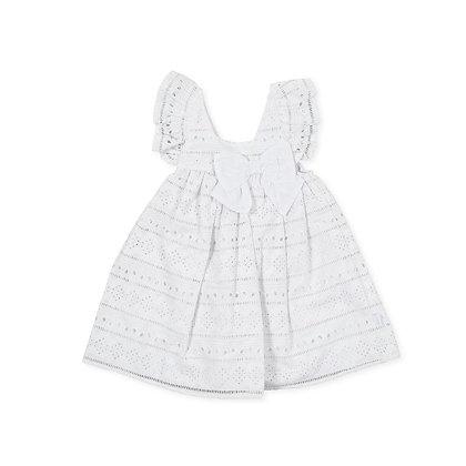 White Frills Dress Bow Girls