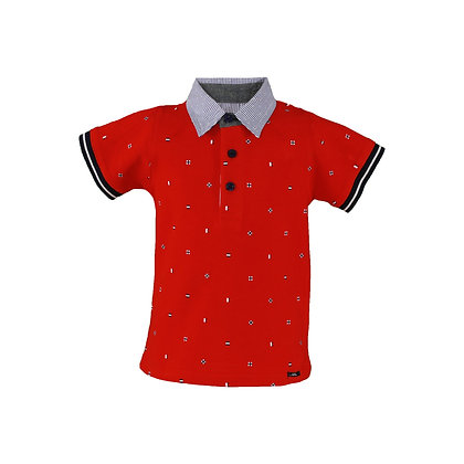 Miranda Boys' Red Poloshirt