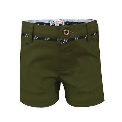 Miranda Boys Bemuda Chino Shorts Army Green Khaki