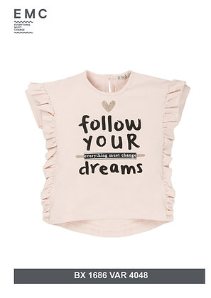 EMC GIRLS Top with 'FOLLOW YOUR DREAMS' Print