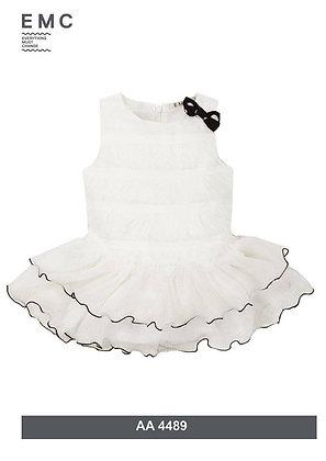 EMC – White Ruffle Dress