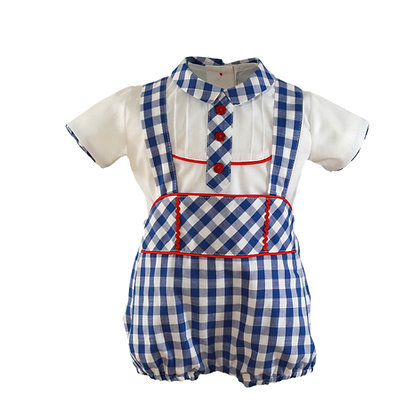 Miranda Baby Boys' Shirt and Dungaree Set